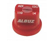 ADI11004 Dysza płaskostrumieniowa ADI 110° czerwona ceramiczna