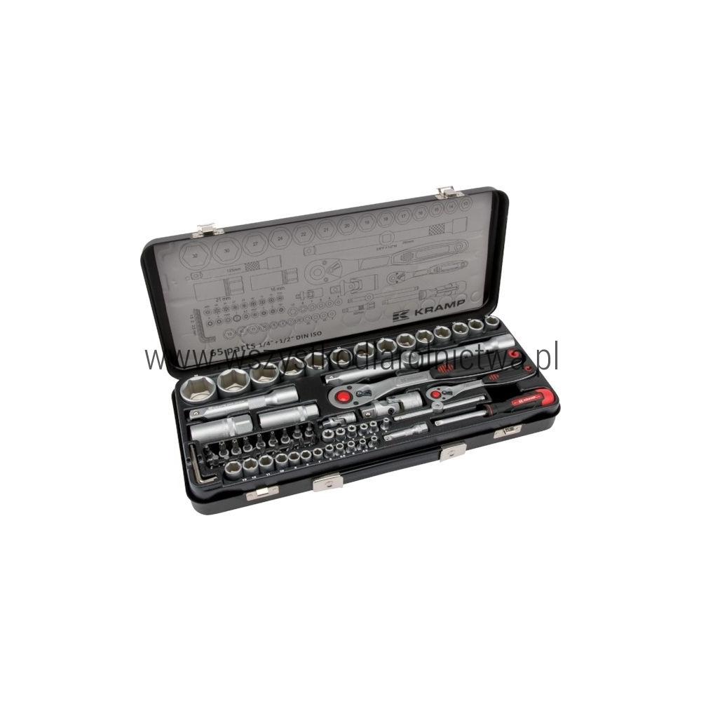 """180465420KR Zestaw kluczy nasadowych 1/4"""" + 1/2"""" 65 elementów"""