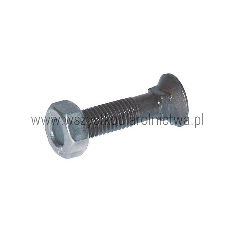 1040109VK Śruba płużna 4-kątna z podsadzeniem DIN 608, M10x40 mm kl. 10.9 z nakrętką