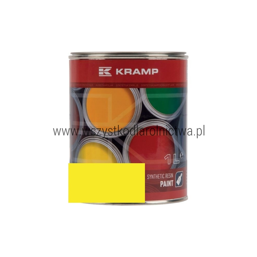 101808KR Lakier do maszyn RAL, 1018 żółty jasny 1 L, RAL1018