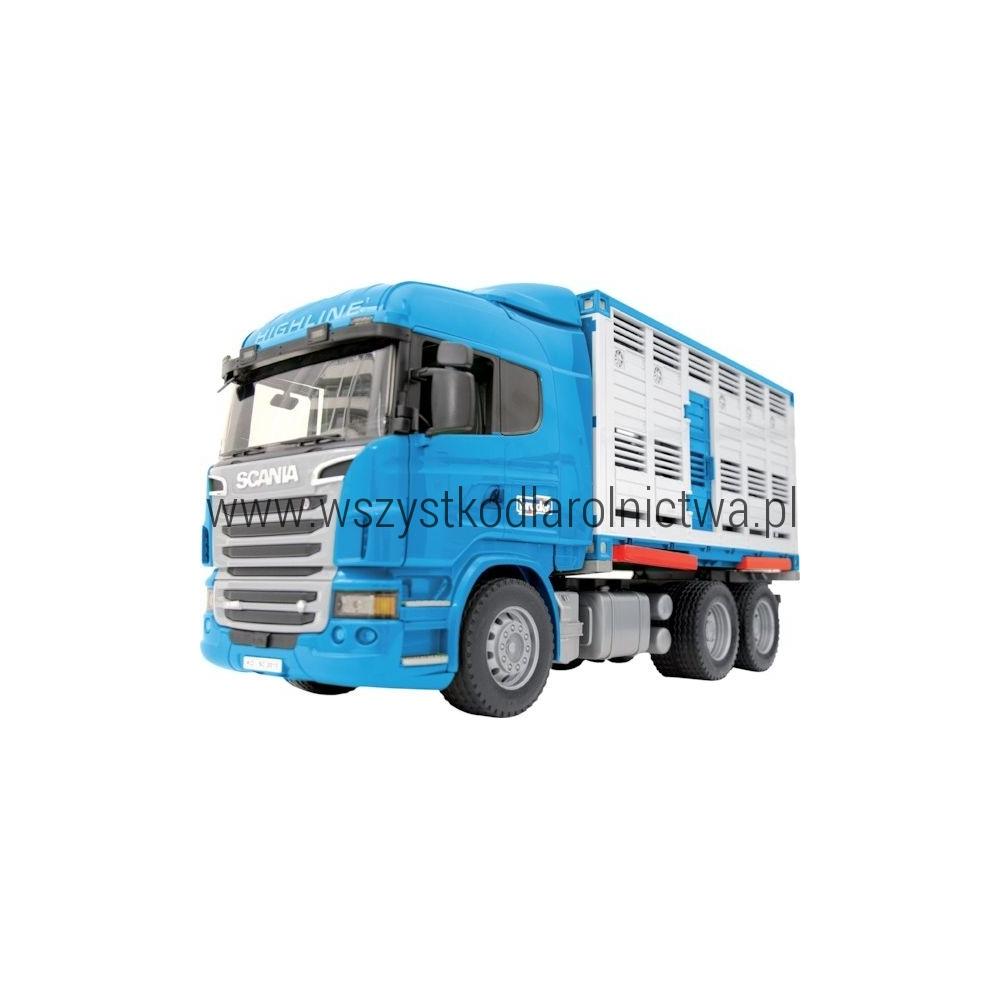 U03549 Ciężarówka Scania z przyczepą do przewożenia bydła
