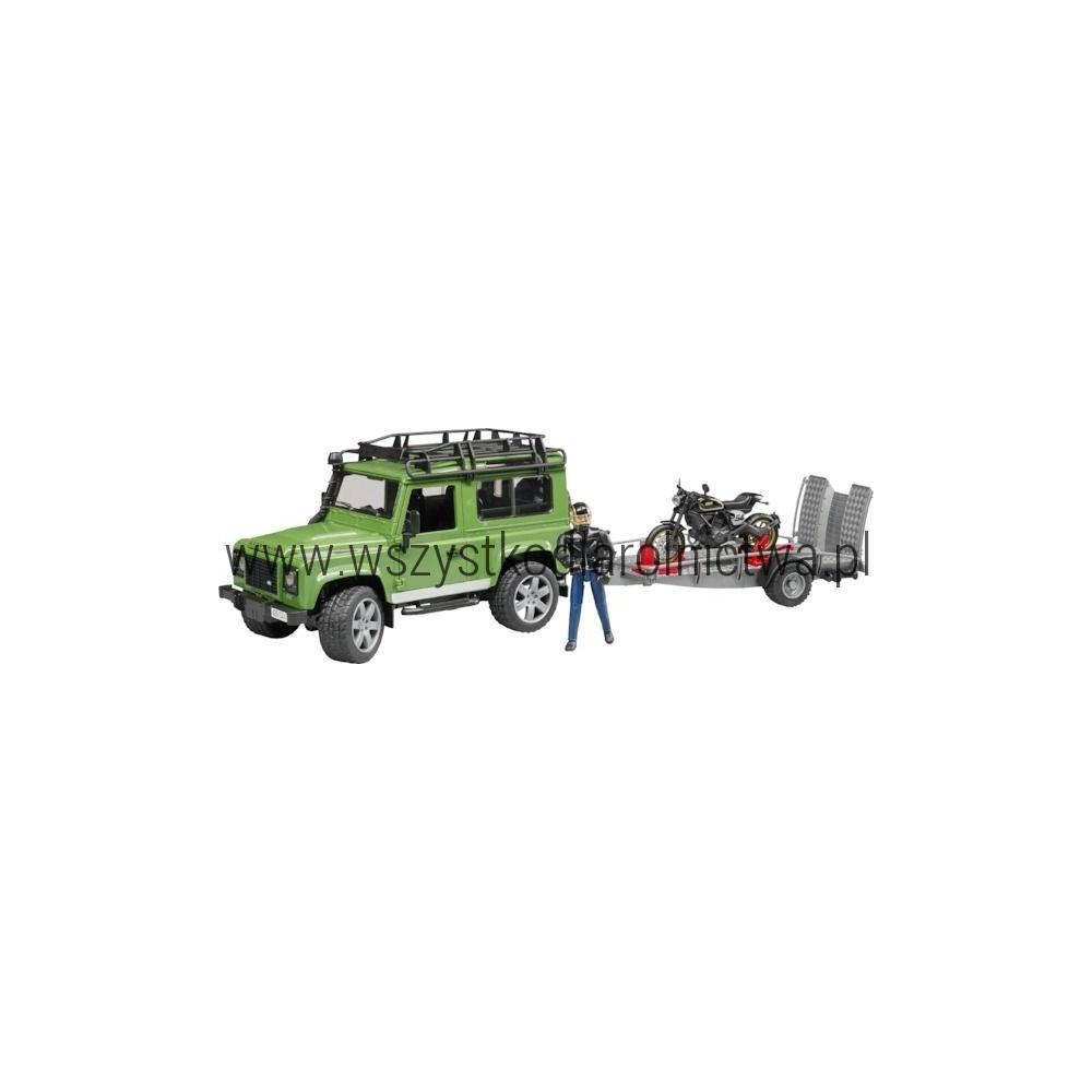 U02598 Land Rover z kierowcą, lawetą i motorem Ducati
