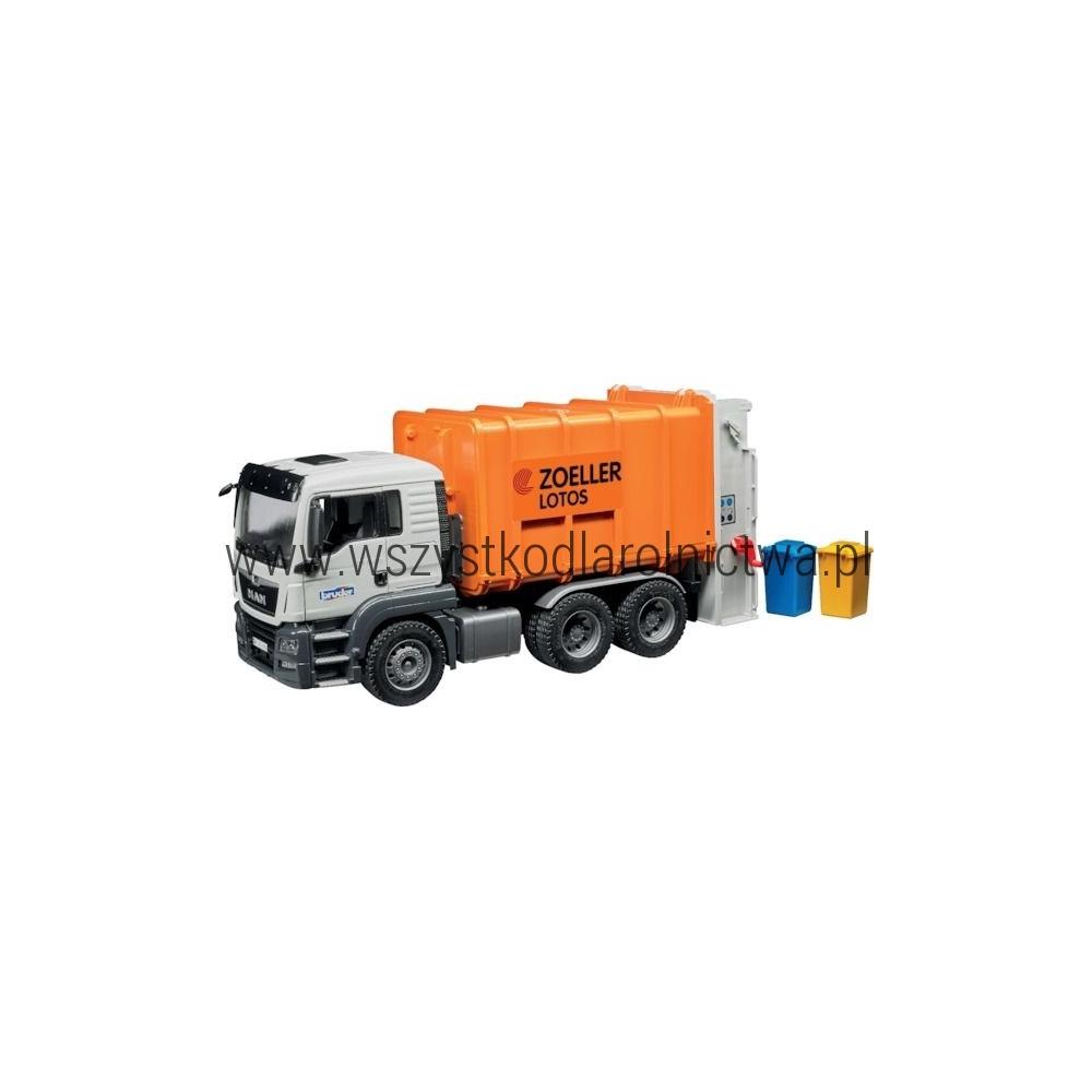 U03762 Śmieciarka MAN TGS pomarańczowa