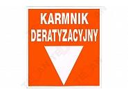 """1704081002 Naklejka na ścianę """"Karmnik deratyzacyjny"""""""