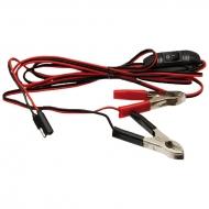 Kabel przyłączeniowy do pomp ciśnieniowych wody, opryskiwacza, pod akumulator z wyłącznikiem zasilania, długość 3m, COMET