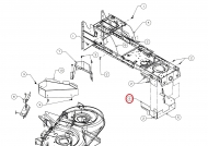 783-10469637 Osłona silnika koła pasowego