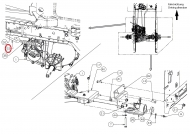 747-05313 Pręt hamulcowy 700 HYDRO T2
