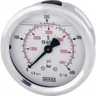 """B711W063400T Manometr glicerynowy, ø63 mm, 400 bar, przyłącze tylne 1/4"""""""