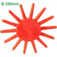 Gwiazda palcowa pielnika bocznego, mała, wersja pomarańczowa, Ø 250 mm