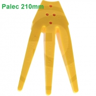 Gwiazda palcowa pielnika bocznego, segment - połowa ćwiartki, żółta 210 mm