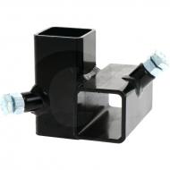 Łącznik narożny standard, prawy, pielnika bocznego do rury 40 x 40 mm