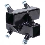 Łącznik narożny standard, wzmocniony, pielnika bocznego do rury 40 x 40 mm