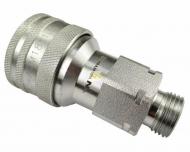 Szybkozłącze hydrauliczne gniazdo M18x1.5 gwint zewnętrzny EURO (9100818G) (ISO 7241-A) Waryński