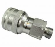 Szybkozłącze hydrauliczne gniazdo M16x1.5 gwint zewnętrzny EURO (9100816G) (ISO 7241-A) Waryński