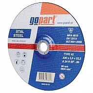1861165230GP Tarcza do cięcia stali Gopart, wypukła 230 x 3 x 22