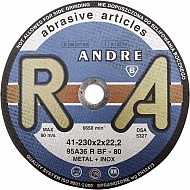 1861165320 Tarcza do cięcia stali Andre, płaska 230 x 2 x 22