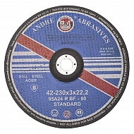1861165230 Tarcza do cięcia stali Andre, wypukła 230 x 3 x 22