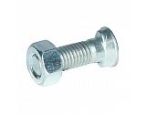 1230COP025 Śruba płużna 2-noskowa z łbem owalnym Kramp, M12x30 mm z nakrętką