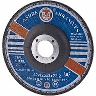 1861162230 Tarcza do cięcia stali Andre, wypukła 125 x 3 x 22