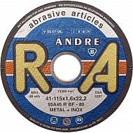 1861161320 Tarcza do cięcia stali Andre, płaska 115 x 1,6 x 22