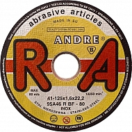 1861162321 Tarcza do cięcia stali inox Andre, płaska 125 x 1,6 x 22
