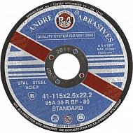 1861161120 Tarcza do cięcia stali Andre, płaska 115 x 2,5 x 22