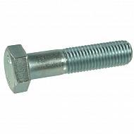 960161580 Śruba pół gwint drobnozwojna kl. 8.8 ocynk Kramp, M16x1,5x80 mm, 16x80x1,5 mm