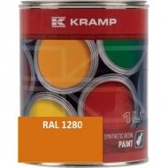 128008KR Lakier, farba pasujący do maszyn Renault, seria 318 żółty 1 L