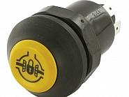 11130800PN Przełącznik, włacznik przyciskowy, świateł postojowych, okrągły żółty