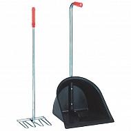 ES2092N Zestaw do sprzątania obornika Mistboy, regulowany 75-90 cm
