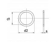 98851003P025 Podkładka pasowana  5x10x0,3 mm