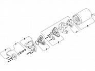 DIP9439506 Membrana do pompy Shurflo, zestaw 94-395-06