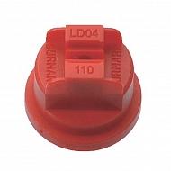 LD11004 Dysza płaskostrumieniowa LD110° czerwona tworzywo sztuczne