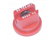 DG8004VS Dysza płaskostrumieniowa DG 80° czerwona V2A, nierdzewna