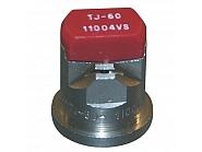 TJ6011004VS Podwójna dysza płaskostrumieniowa TJ 110° czerwona V2A, nierdzewna