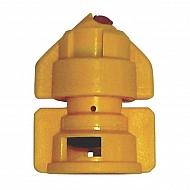 TDHS11002 Podwójna dysza płaskostrumieniowa TDHS 110° żółta, tworzywo sztuczne/ceramika