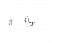 116313 Przyłącze węża 90° pod nakrętke nasadową z pierścieniem uszczelniającym Arag, 13 mm, 3/4''