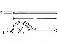 SL40Z4550 Klucz hakowy ze sworzniem Gedore, 45-50 mm