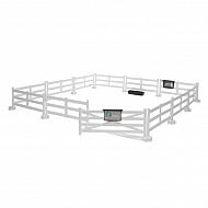 U62504 Ogrodzenie wybiegu dla koni białe