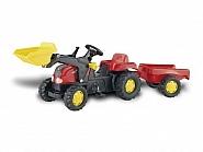 199302312 Traktor RollyKid czerwony z ładowaczem i przyczepą