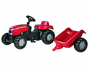 R01230 Traktor RollyKid Massey Fergusson z przyczepą