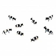 571878 Krowy, czarne/kolorowe, zestaw