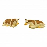 571969 2 łaciate krowy, leżące