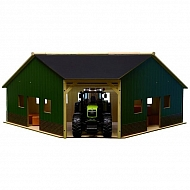 610339 Narożna hala na urządzenia drewno