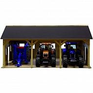 610340 Hangar drewniany na 3 ciągniki