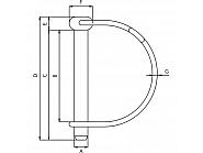 LP845GP Zawleczka składana 8 mm