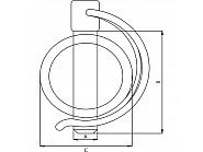 SLP845GP Zawleczka rurkowa, ocynkowana 8 mm