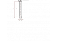 LPS4538GP Zawleczka składana, na rurę czworokątną 4,5x38 mm
