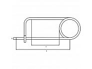 CL345GP Zawleczka 3x75 mm, zawleczka agrafkowa