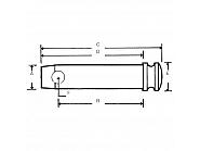 Z319092HKR Sworzeń górny drążka kierowniczego, 19x92mm